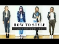 watch he video of How to Style Leather Jackets + LOOK BOOK
