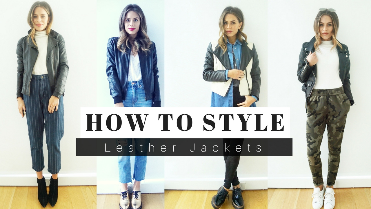 How to Style Leather Jackets + LOOK BOOK