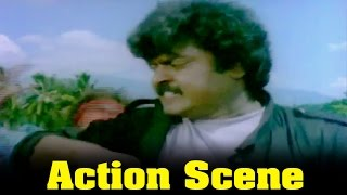 Ponmana Selvan Movie : Action Scene By Vijayakanth
