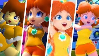 Evolution of Princess Daisy in Super Mario Sports Games (2000 - 2018)