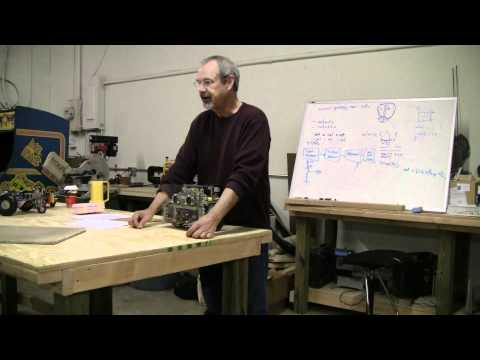 David Anderson demonstrates his method for creating autonomous robots