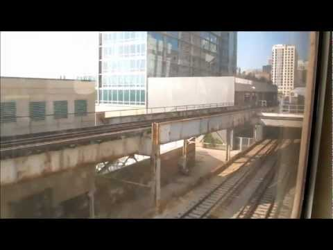 A CTA train ride from Chicago Midway International Airport to Roosevelt station.