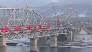 RAILWAY BRIDGE THROUGH THE ENIS