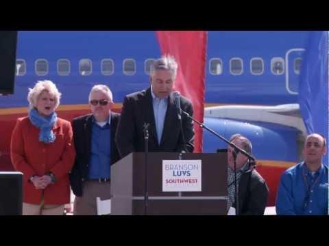 Southwest Airlines Lands in Branson Missouri