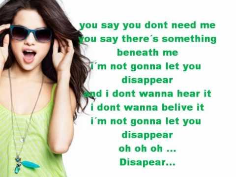 Disappear - Selena Gomez - Lyrics