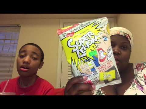 Dej & Ike trying treats from Japan