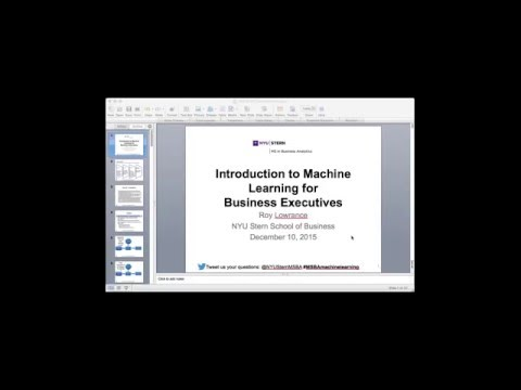 Intro to Machine Learning for Business Executives
