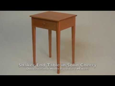 Shaker End Table Hand Made In Solid Cherry By Doucette And Wolfe Furniture  Makers Shaker Night Stand