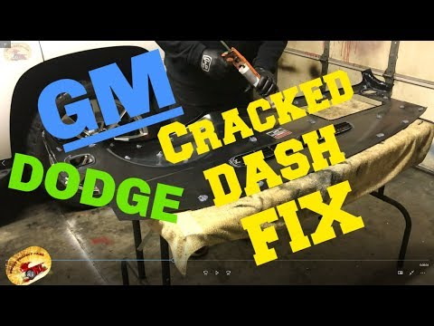 How To Fix a Cracked GM or DODGE CRACKED  DASH
