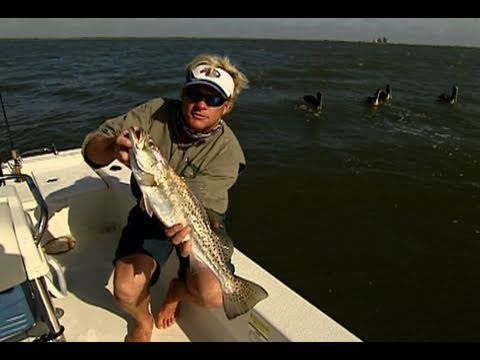 South Padre Island Texas Inshore Fishing for Trout with Live Croakers