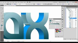 Repeat youtube video 3D Logo/text illustrator tutorial