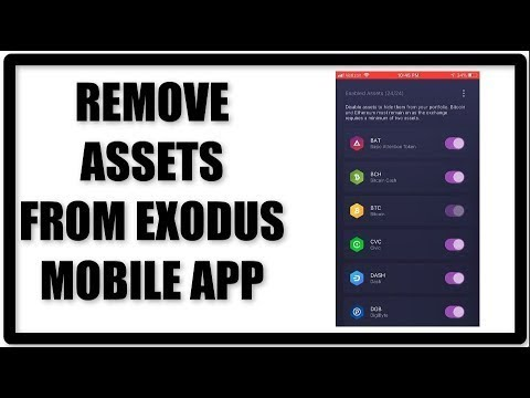 Remove Coins From Exodus Mobile Crypto Wallet