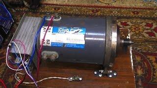 Двигатель для электро автомобиля 48 В(Двигатель продал, осталась только видео., 2014-12-14T23:58:21.000Z)
