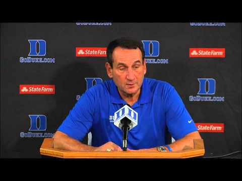 Coach K's Opening Press Conference