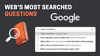Web's Most Searched Questions about the Indian Constitution 📒