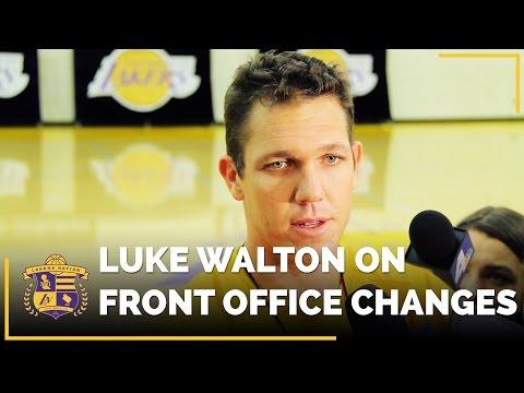 Luke Walton On Lakers Front Office Changes, Magic Johnson, Rob Pelinka