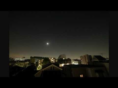 都内からの夜空と月の出 timelapse_Tokyo
