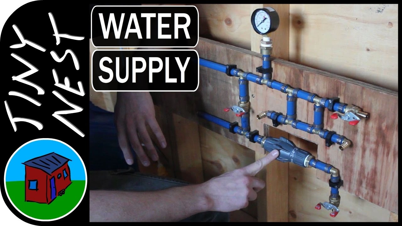 Tiny House Water Supply Plumbing Ep31 YouTube
