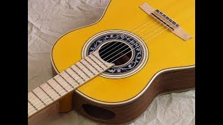 Santos Hernandez 1927a  Ovangkol flamenco guitar review (with zero fret) Andalusian Guitars Spain