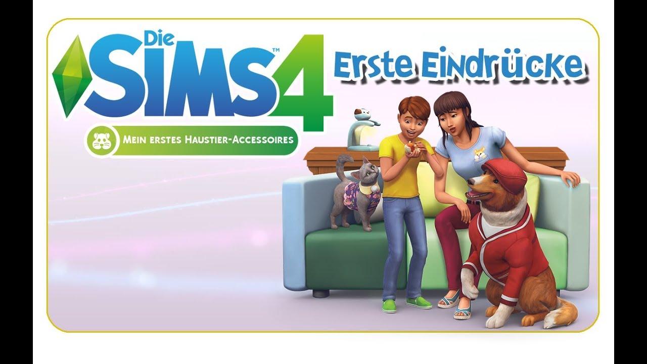 Die Sims 4 Mein Erstes Haustier Accessoires Erste Eindrucke Cas Mobel Kleintiere More Youtube