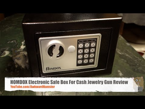 Durable Mini Home Security Combination Lock Cash Jewelry Gun Safe Box Black