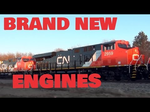 Chasing 8 Brand New Canadian National Engines