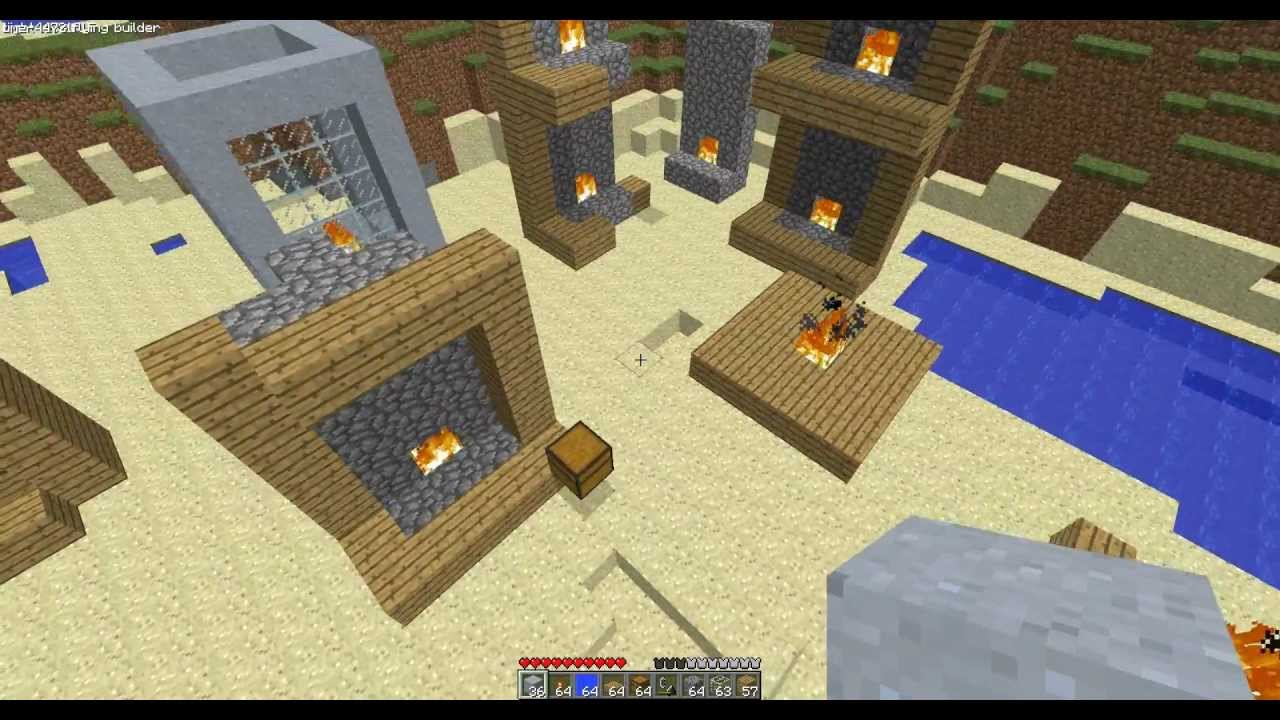 Minecraft - Wooden House? Fireplace? No Problem! - YouTube