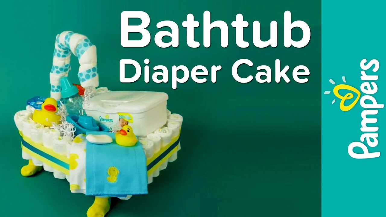 How To Make A Bathtub Diaper Cake