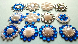 Pearl Gem Rhinestone Embellishments | Dollar Tree Gem Stickers