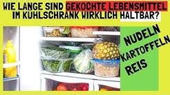Wie lange sind gekochte Lebensmittel im Kühlschrank haltbar?