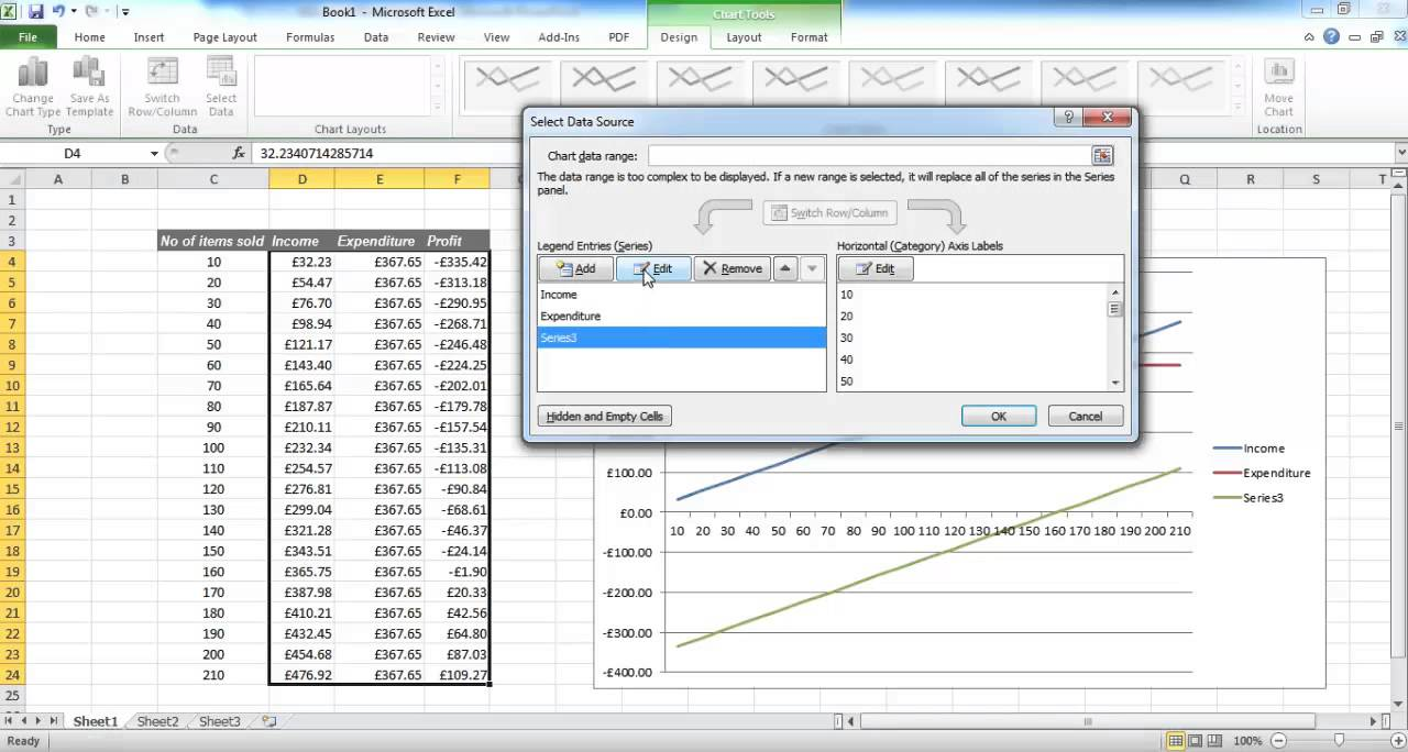 Creating A Breakeven Chart in Excel YouTube