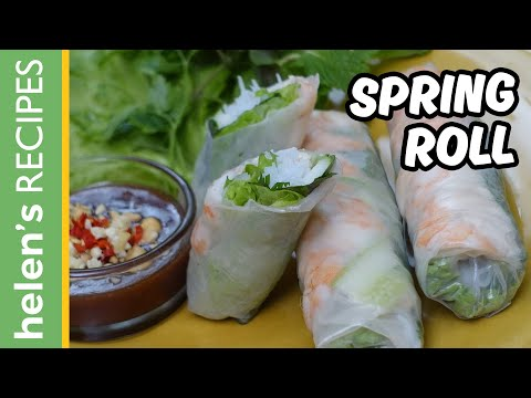 How to make Vietnamese Fresh Spring Roll (GOI CUON)