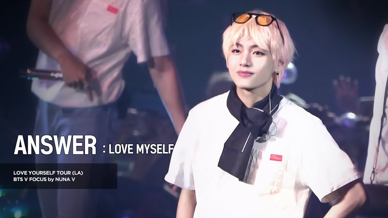 180908 Love yourself tour in LA - Answer : Love Myself / BTS V focus 4K fancam / 방탄소년단 뷔 직캠