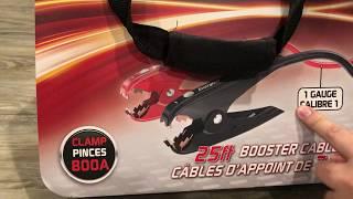 Energizer Car jumper cables unboxing