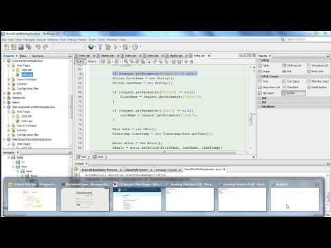 Creating A JSP Web Application That Inserts Data Into A Database