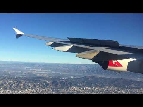 Qantas A380 Landing at Los Angeles ( From Sydney Australia)