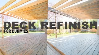 Deck Refinishing | How-To Clean, Strip, Sand, Restain