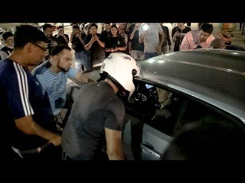 INSANE FIGHT AT CAR MEET!!! - CAMARO RUNS PEOPLE OVER!!!