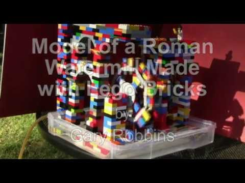 Roman Watermill Made With Lego Bricks