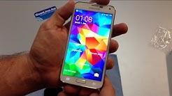 Samsung Galaxy S5 G900 kicsomagolás + ujjlenyomat teszt