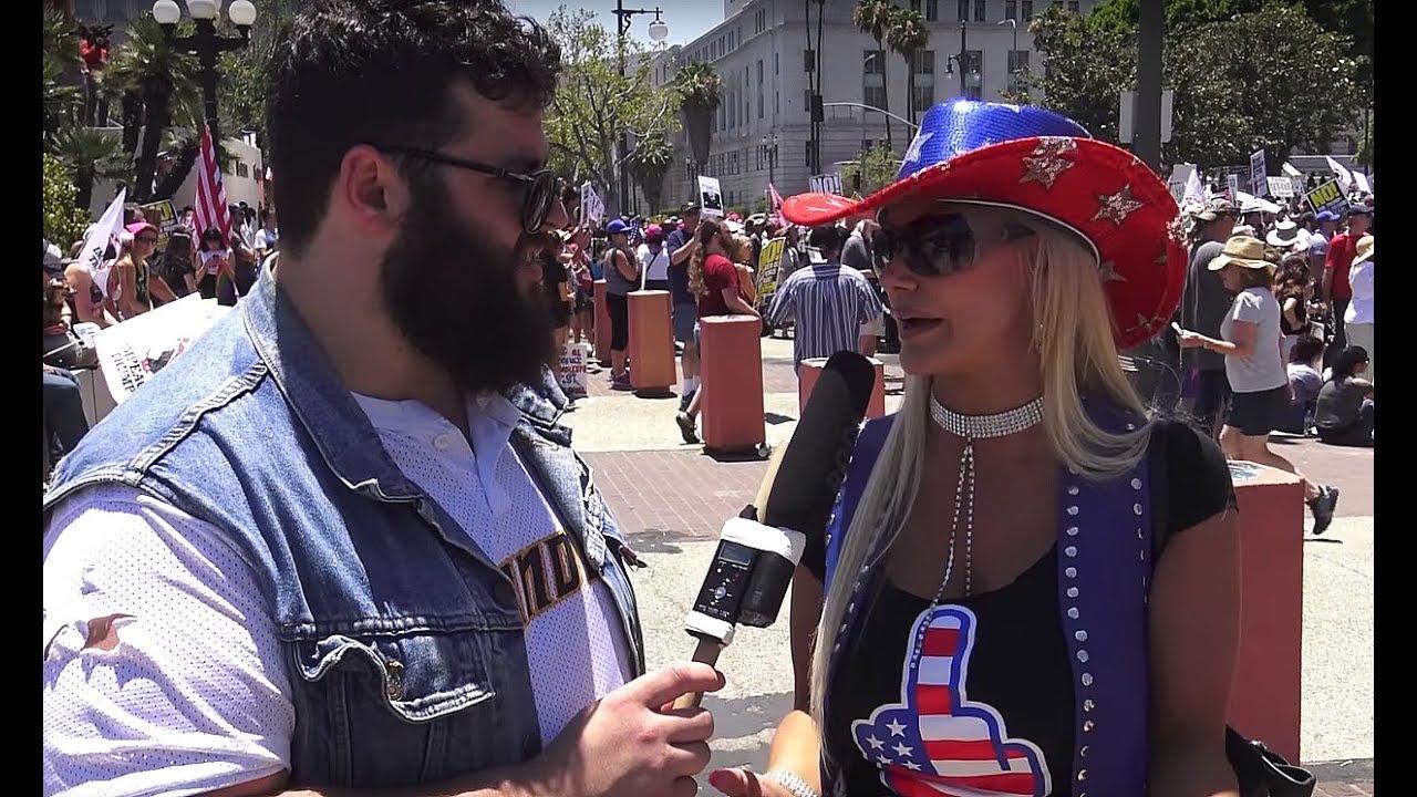 Clueless Anti-Trump Protesters Call For Trump's Impeachment | FLECCAS TALKS