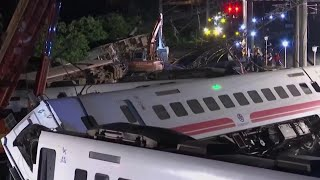Desperate Search For Survivors After Train Derails In Taiwan | NBC Nightly News