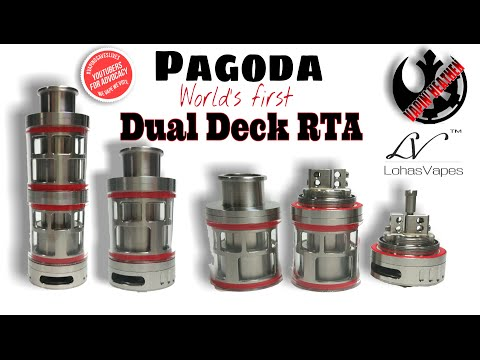 World's First Dual Deck RTA/RDA The Pagoda by Lohasvapes | Lets Unbox this B*tch