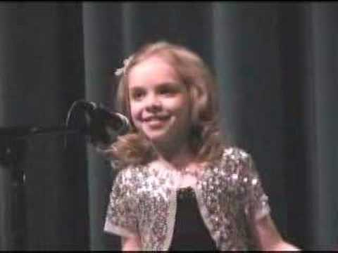 Darcy Rose Byrnes sings THE GLORY OF LOVE
