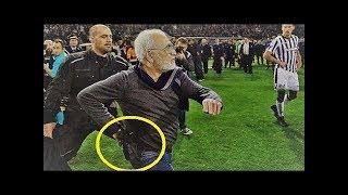 رئيس نادي يوناني يقتحم الملعب بسلاح ناري اعتراضا على هدف ملغي