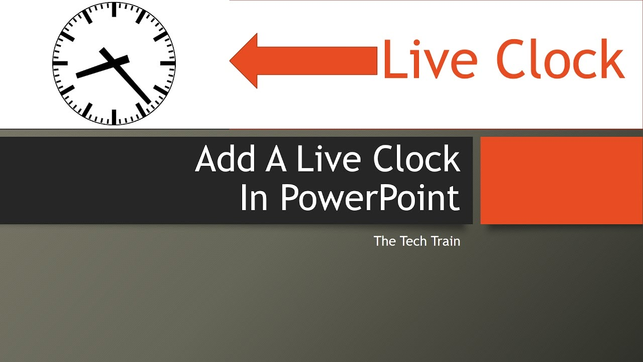add a live clock in microsoft powerpoint youtube