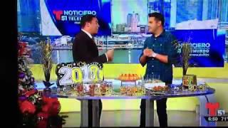 Chef Chris Valdes en Telemundo 51 - Ideas Para el Ańo nuevo