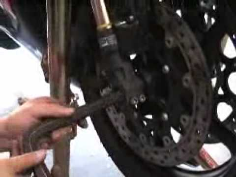 How To Change Rear Tire On Kawasaki Voyager