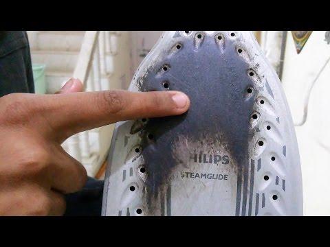 प्रेस पर से जलने के दाग कैसे मिटायें How to Clean Iron(press)Soleplate Off stain burnt Clothes