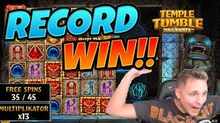 RECORD WIN!!!!! Temple Tumble MEGA WIN - Casino Games from CasinoDaddy